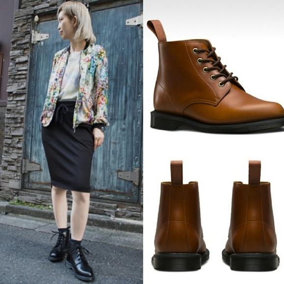 New DR.DOC MARTEN Emmeline Leather Ankle Boot